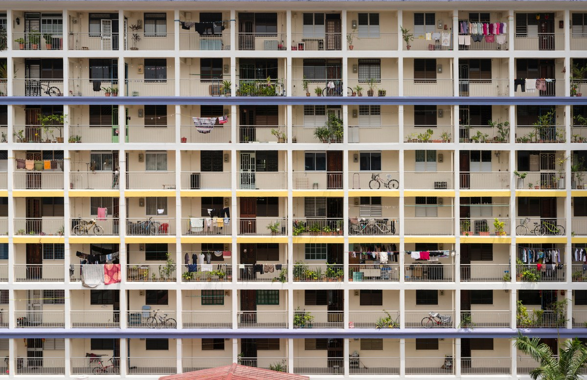 The facade of a Public Housing Flat at Kampong Kayu Road, Singapore. Over 82% of the island nation's population lives in publicly developed and managed housing. Photo: Getty Images