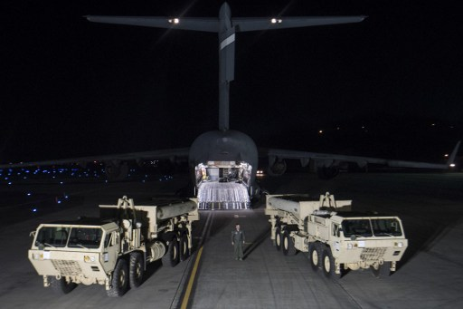US Forces Korea deploying the first elements of Terminal High Altitude Area Defense, or THAAD system on the Korean peninsula. Photo AFP/DoD Handout