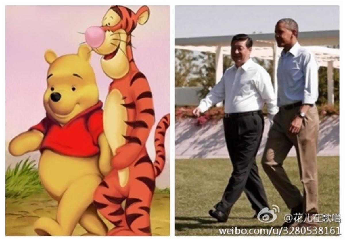 These two images were published side by side on the Chinese social media site Weibo in 2013. Credit: Weibo, Reuters