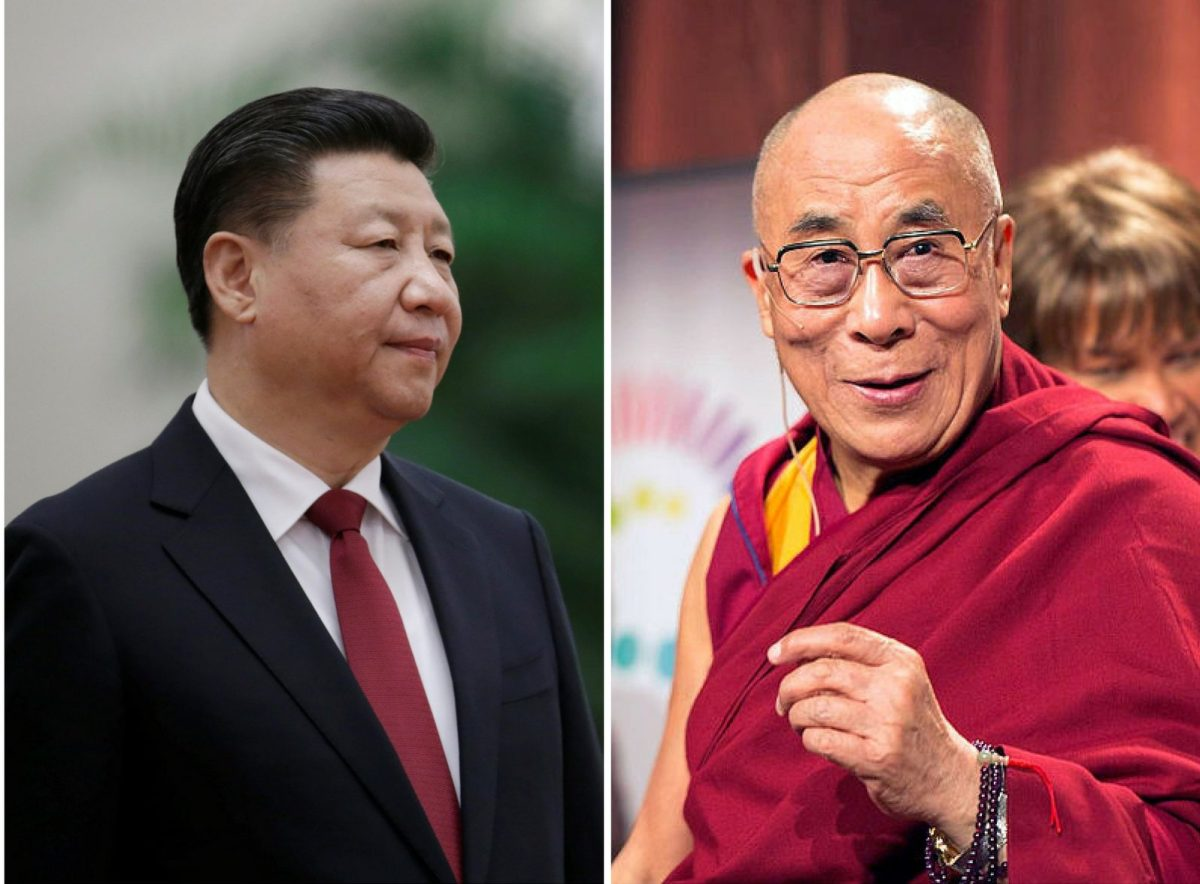 Xi Jinping's China is casting a keen eye on Tibet and its spiritual leader Dalai Lama. Photo: Reuters and Wikimedia Commons
