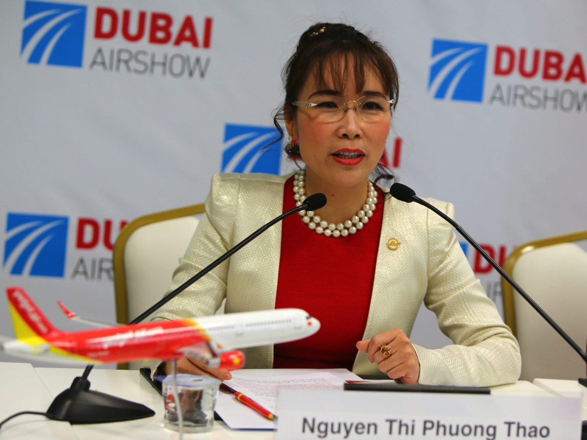 Nguyen Thi Phuong Thao, President and CEO of Vietnamese budget airline carrier VietJet. Photo: AFP/ Marwan Naamani