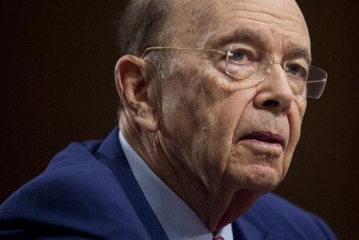 Secretary of commerce Wilbur Ross. Photo: AFP