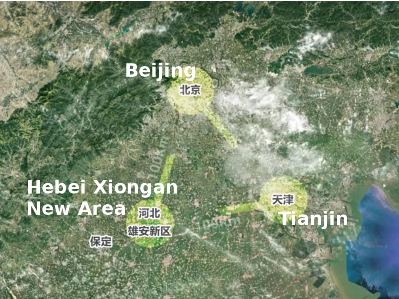 Screen capture of promotional video for the Xiongan New Area. Source: Miaopai