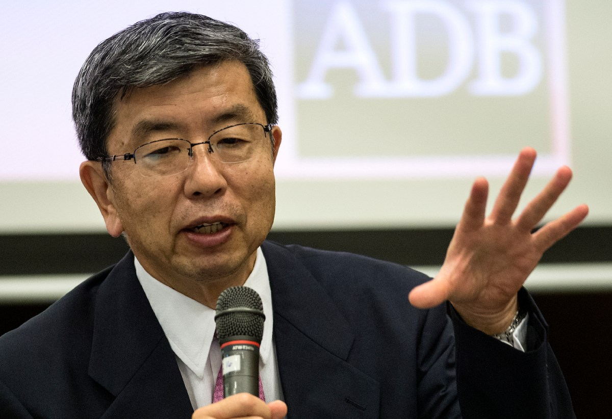 Asian Development Bank chief Takehiko Nakao. Photo: AFP, Noel Celis