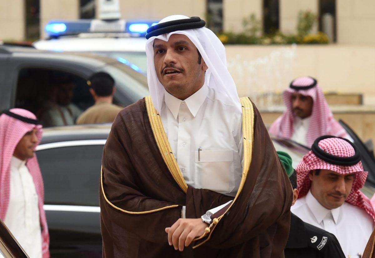 Qatar's Foreign Minister Mohammed bin Abdulrahman bin Jassim al-Thani. 3Photo: AFP / Fayez Nureldine