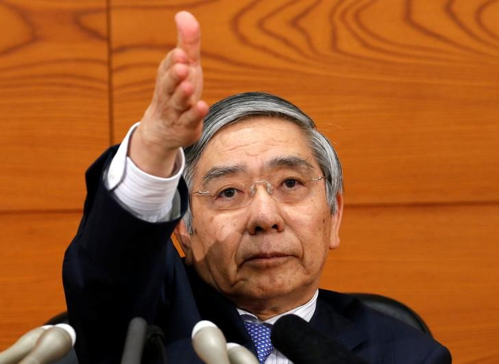 Haruhiko Kuroda at a news conference in the BOJ headquarters in Tokyo. Reuters/Kim Kyung-Hoon