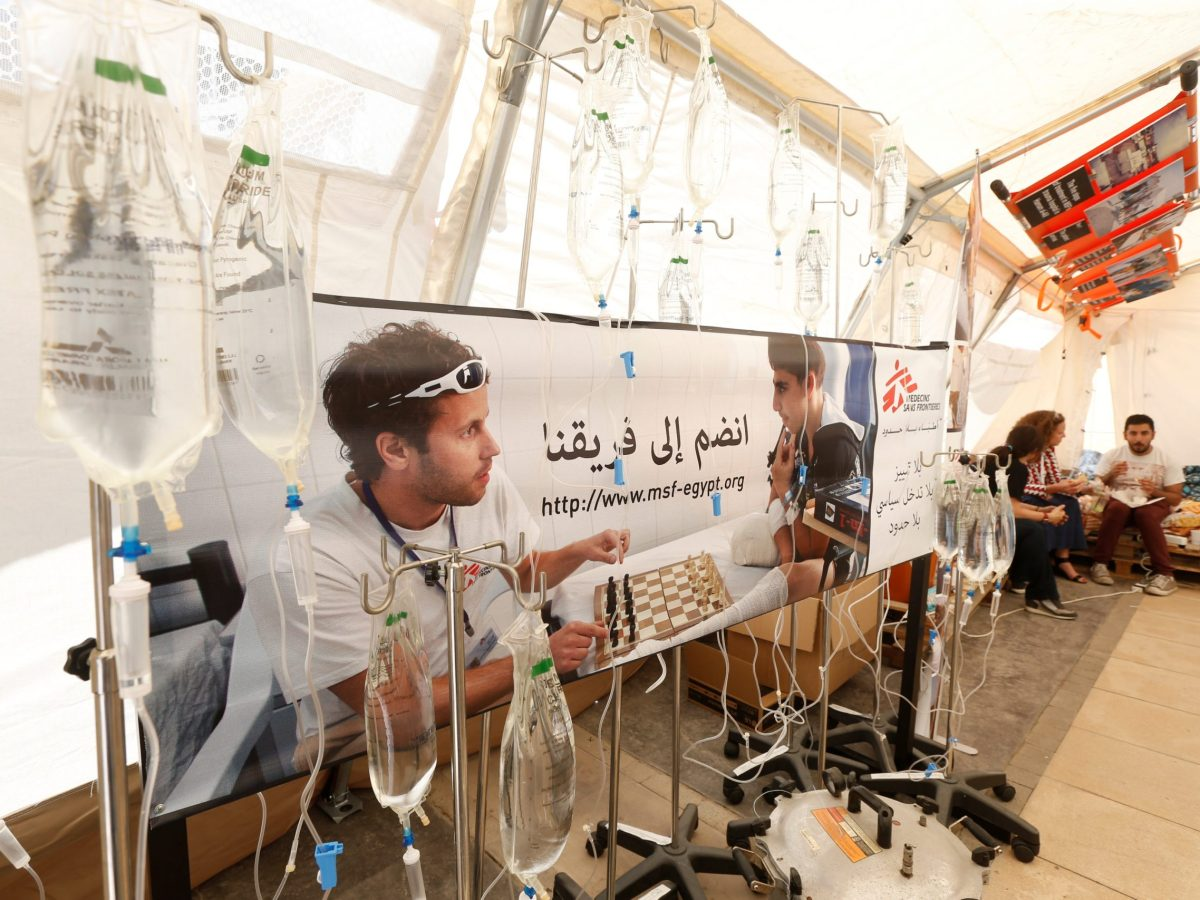 Medical supplies and staff are thin on the ground in Syria, but China could help. Photo: Reuters/Mohamed Azakir