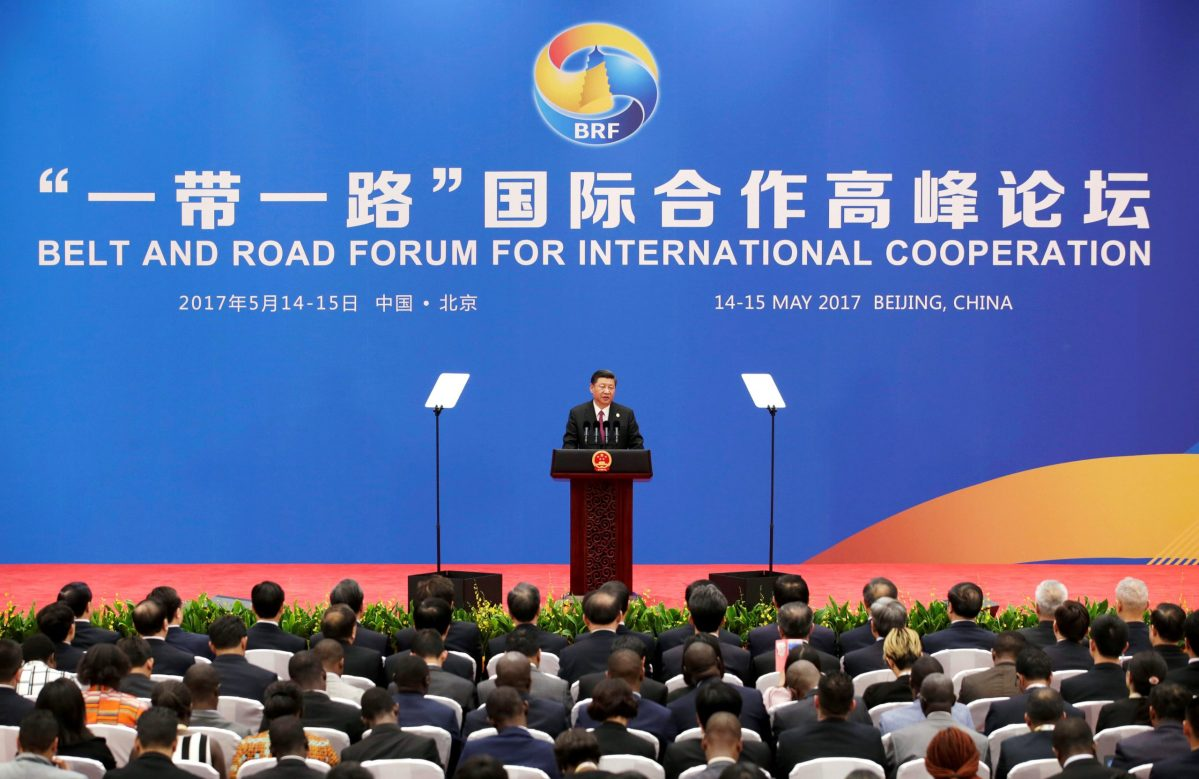 Chinese President Xi Jinping at a news conference that marked the end of the Belt and Road Forum in Beijing, China May 15, 2017.  Photo: Reuters