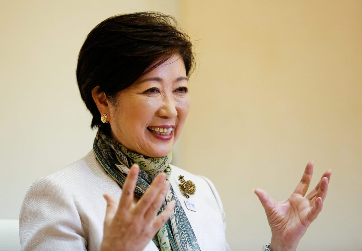Tokyo Governor Yuriko Koike speaks at an interview with Reuters in Tokyo, Japan May 29, 2017.  Reuters/Kim Kyung-Hoon