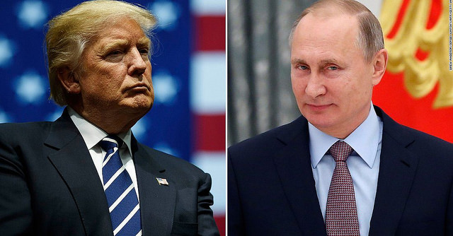 US President Donald Trump and Russian leader Vladimir Putin. Photo: Flickr
