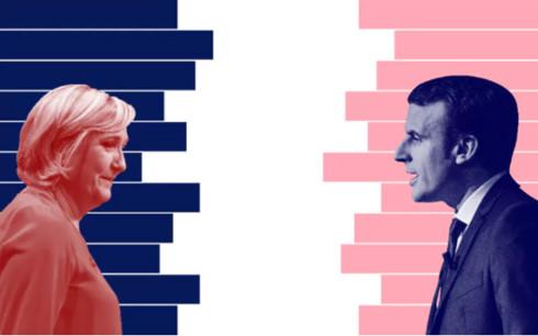Marine Le Pen and Emmanuel Macron. Photo: Flickr