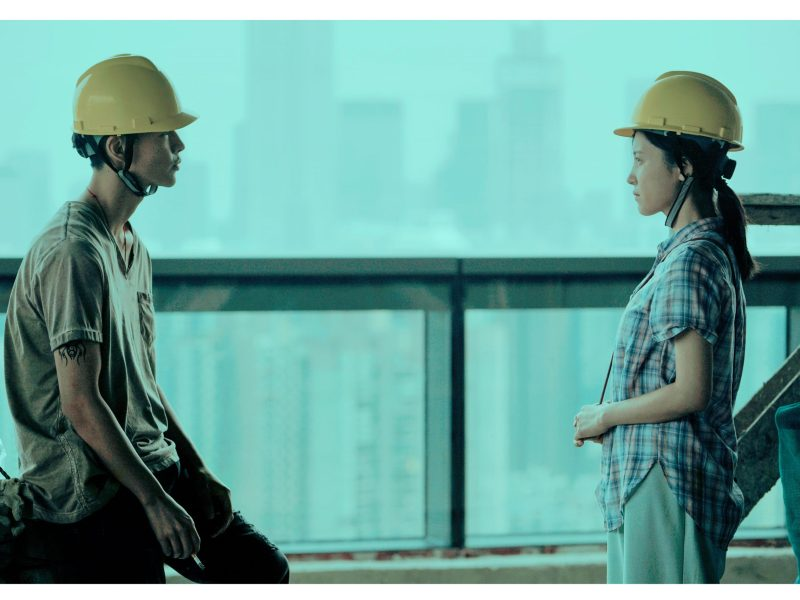 Walking Past the Future, starring Yang Zishan(right) and Fang Yin(left) by director Li Ruijun. Photo: Cannes