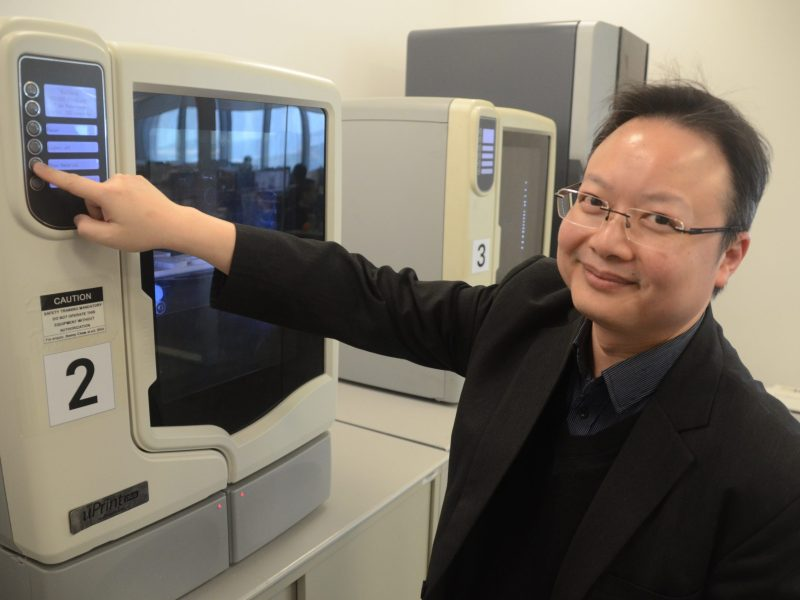 Benny Chow, director of sustainability at Aedas, is passionate about 3D printing. Photo: Johan Nylander