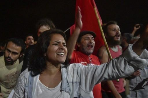 Brazilians protest President Michel Temer. Photo: Mateus Bonomi/AGIF