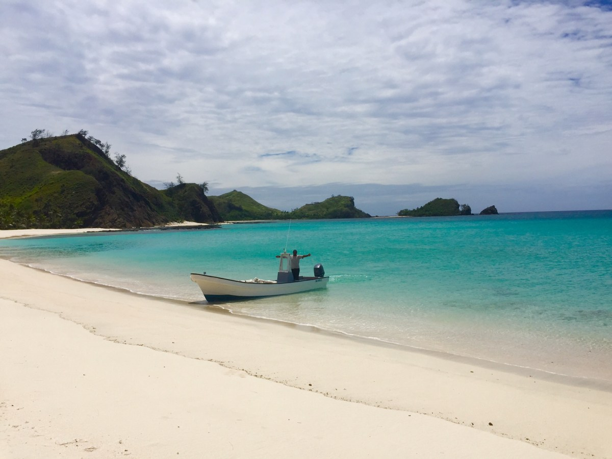 The deserted cove on Yasawa Island where Captain Sam dropped the writer off for the afternoon. Photo: Julie L. Kessler
