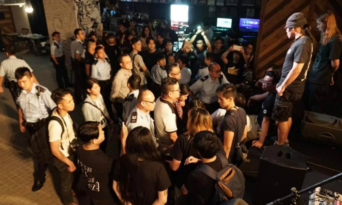 Arrests were made at Hidden Agenda on Sunday evening. Photo: Vic Shing