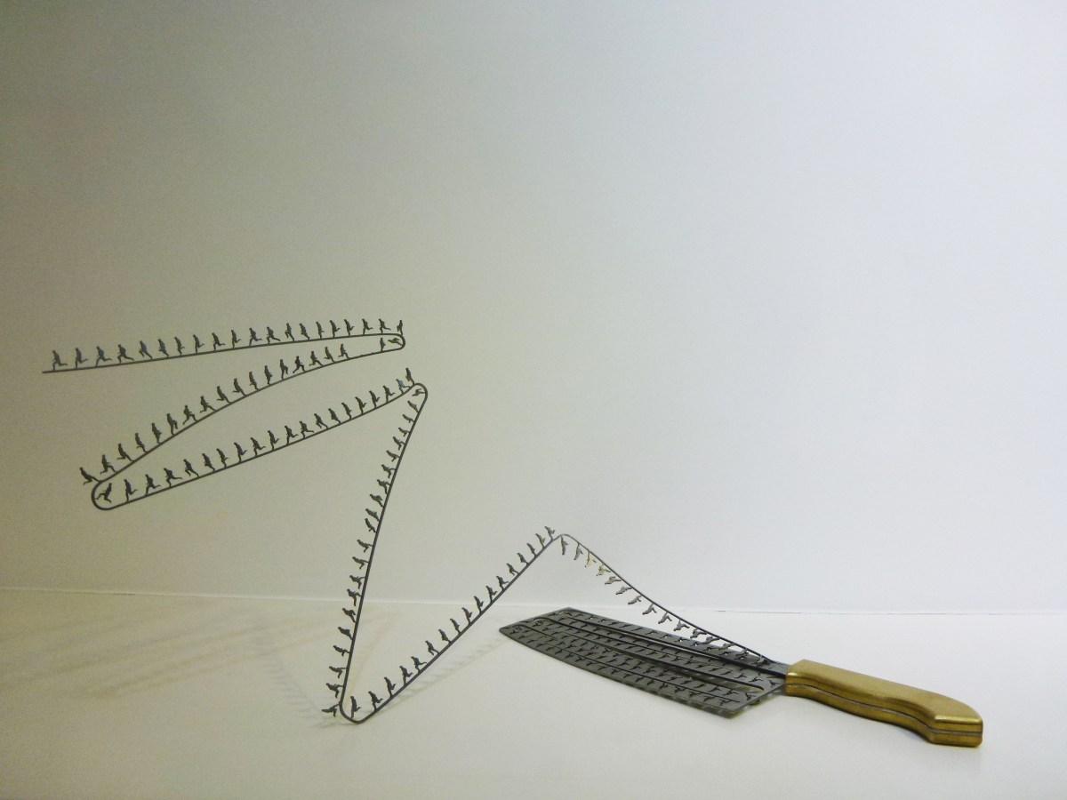 Li Hongbo's Desire Metal, 35 x 10 x 1cm. Photo courtesy of The Sovereign Art Foundation.
