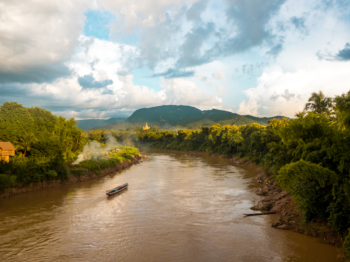 The Nam Khan River that runs through the ancient royal capital of Luang Prabang in Laos. Photo: iStock/Getty Images