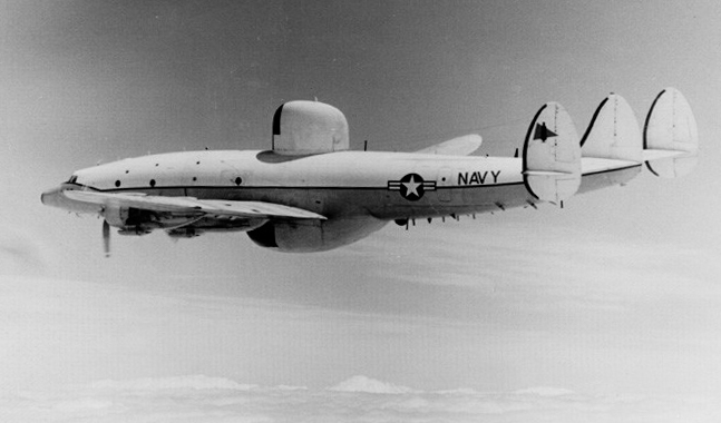 A U.S. Navy Lockheed EC-121M Warning Star (BuNo 143209, tal code JQ-14) of fleet air reconnaissance squadron VQ-2 Batmen in the early 1970s. Photo: Wikimedia Commons