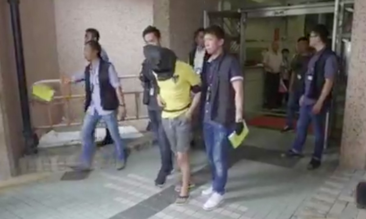 A man was arrested in Sau Mau Ping Estate as a suspect of a rape and robbery case. Photo: Hong Kong Police Force