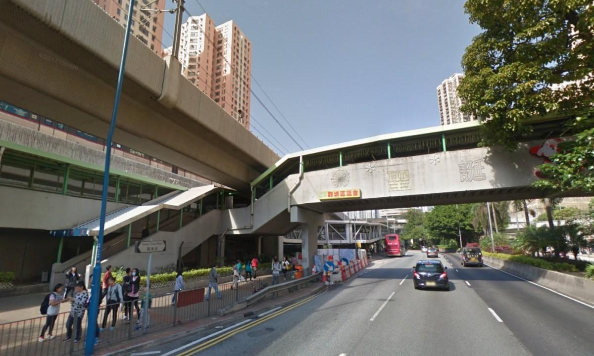 The footbridge near Exit B of the Kowloon Bay MTR station. Photo: Google Maps