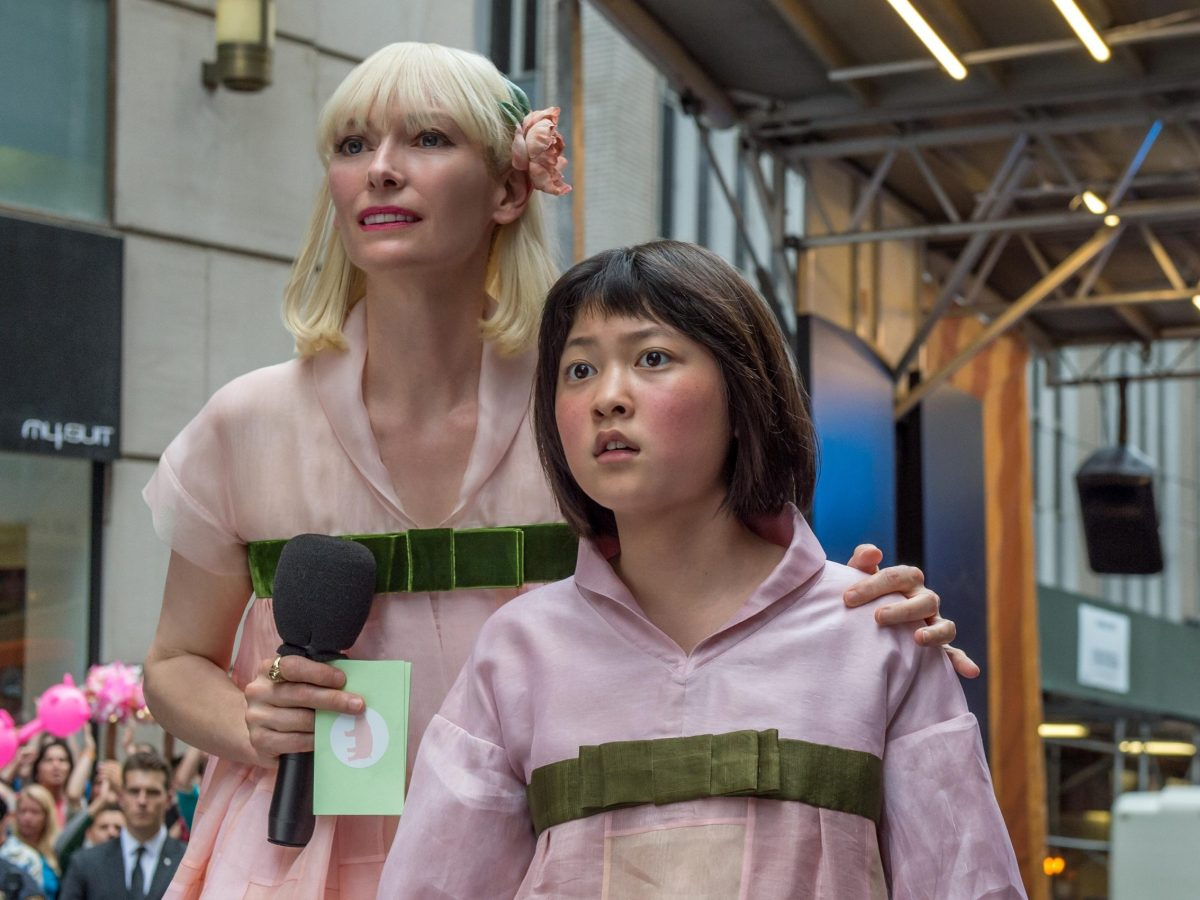 Okja by Bong Joon-ho starring Tilda Swinton (left). Photo: Cannes