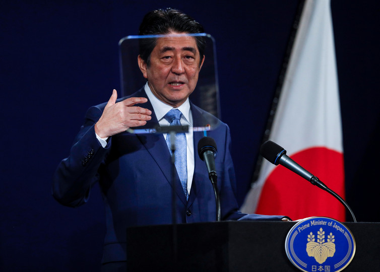 Shinzo Abe. Photo: Reuters/Peter Nicholls