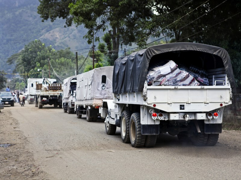 Trucks deliver aid after Haiti's 2010 earthquake. Photo: iStock