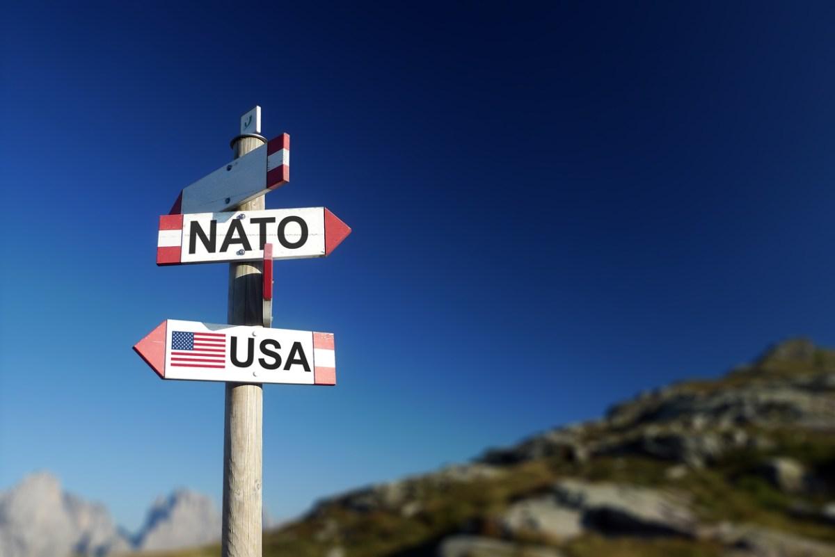 NATO and USA on signpost. Photo: iStock