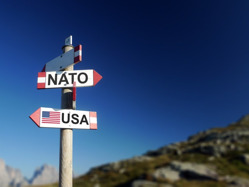 NATO and USA on signpost. Photo: iStock