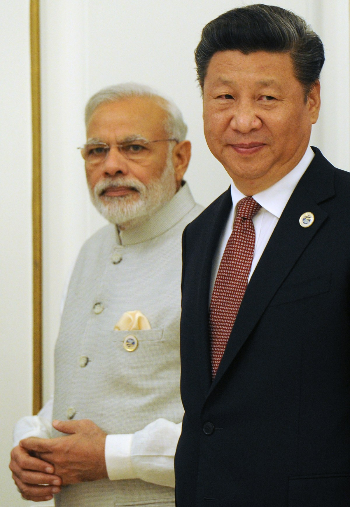 Indian Prime Minister Narendra Modi( left) and China's President Xi Jinping are seen at a meeting in Tashkent last year. Photo: AFP/ Michael Klimentyev / Sputnik