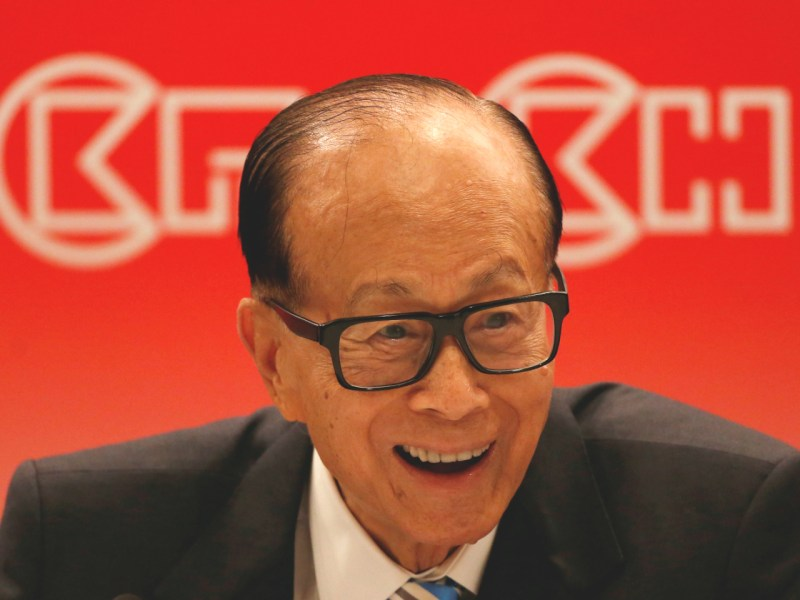 Li Ka-shing. Photo: Reuters/Bobby Yip
