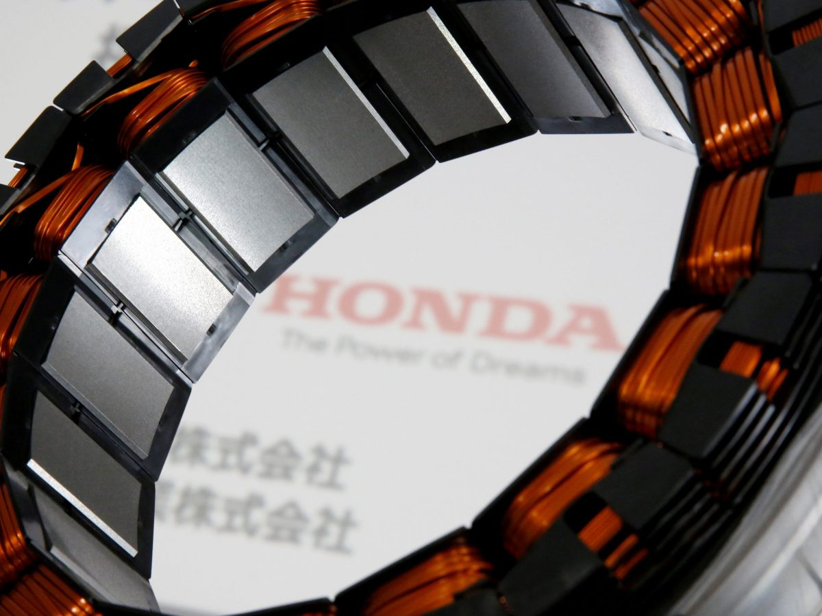Honda's i-DCD drive motor for hybrid cars is the first that uses no heavy rare earth metals. Reuters/Issei Kato