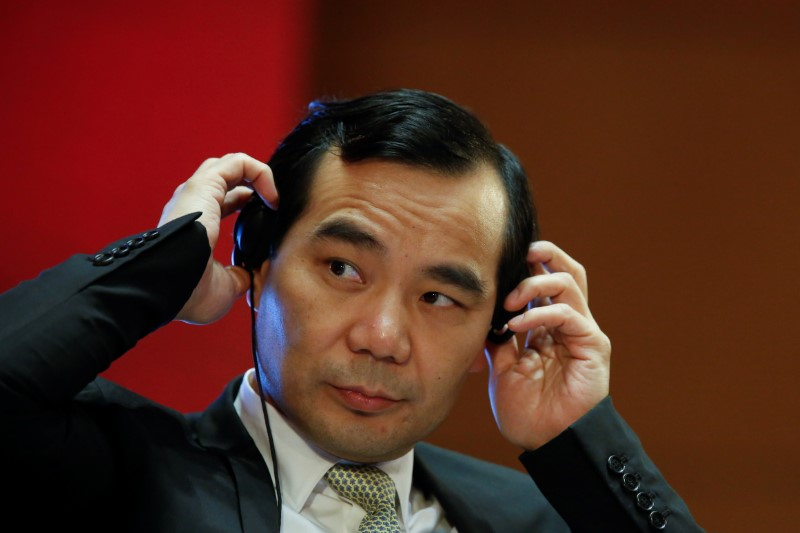 Chairman of Anbang Insurance Group Wu Xiaohui attends the China Development Forum in Beijing, China March 18, 2017.  REUTERS/Thomas Peter