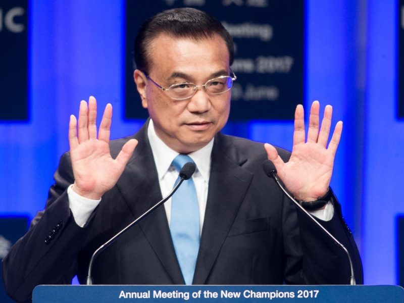 Premier Li Keqiang at the opening plenary of Summer Davos in Dalian. Photo: World Economic Forum/Benedikt von Loebell via Flickr