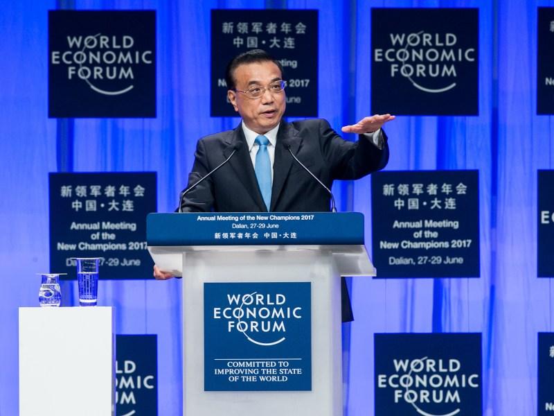 Premier Li Keqiang delivered keynote speech at Summer Davos. Photo: Flickr