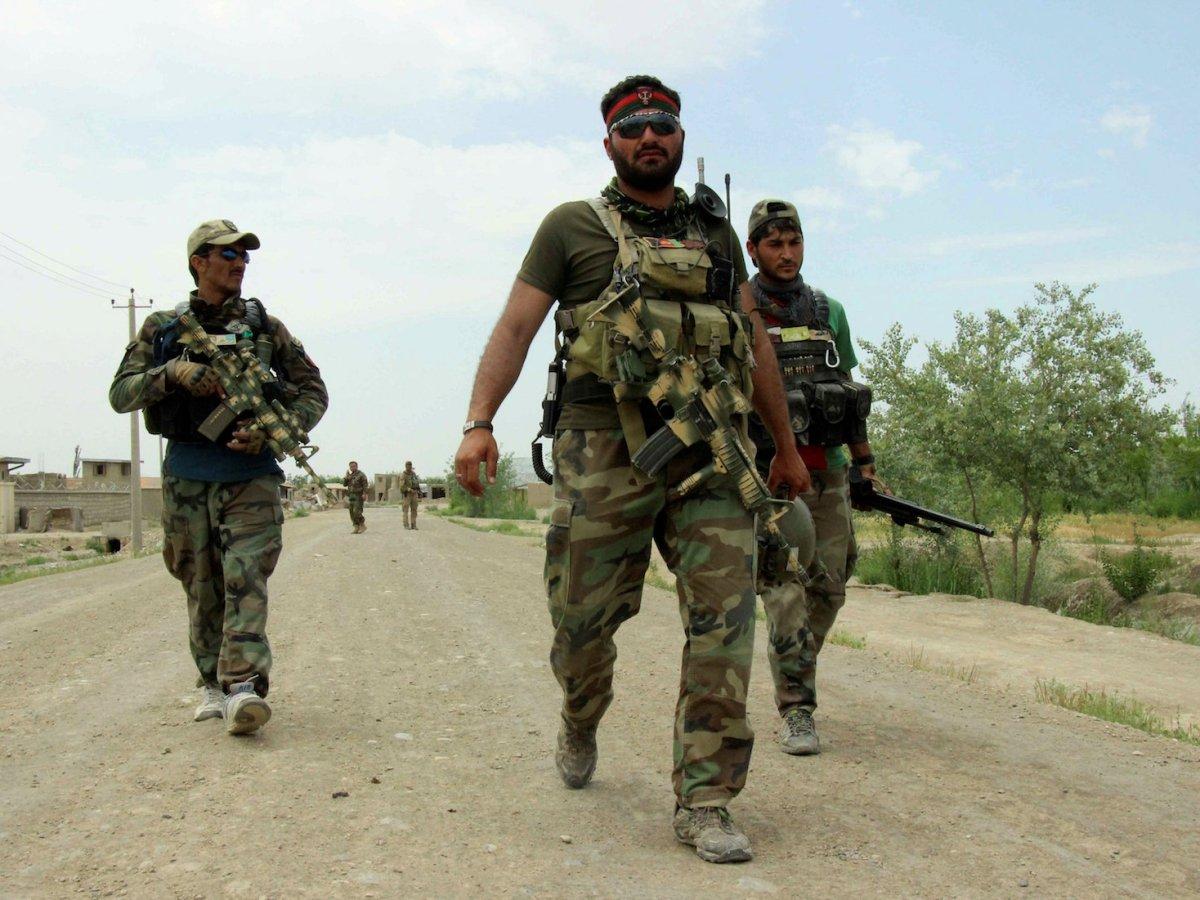Afghan commandos. Photo: Reuters/Nasir Wakif