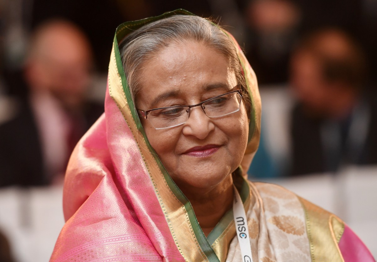 Bangladesh President Sheikh Hasina at a security conference in Munich, Germany, February 18, 2017. Photo: AFP Forum/Tobias Hase