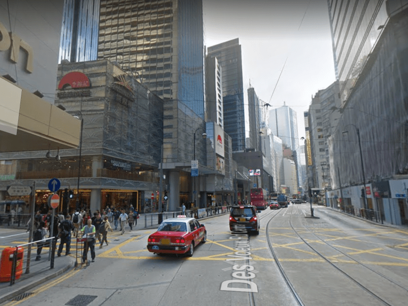 Central on Hong Kong Island where the women were dropped off. Photo: Google Maps