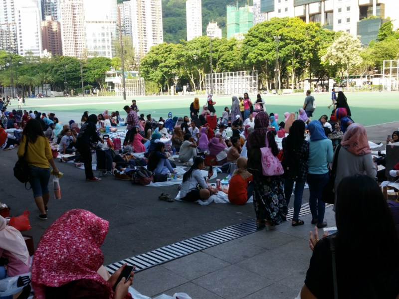 Foreign domestic workers in Hong Kong. Photo: Asia Times