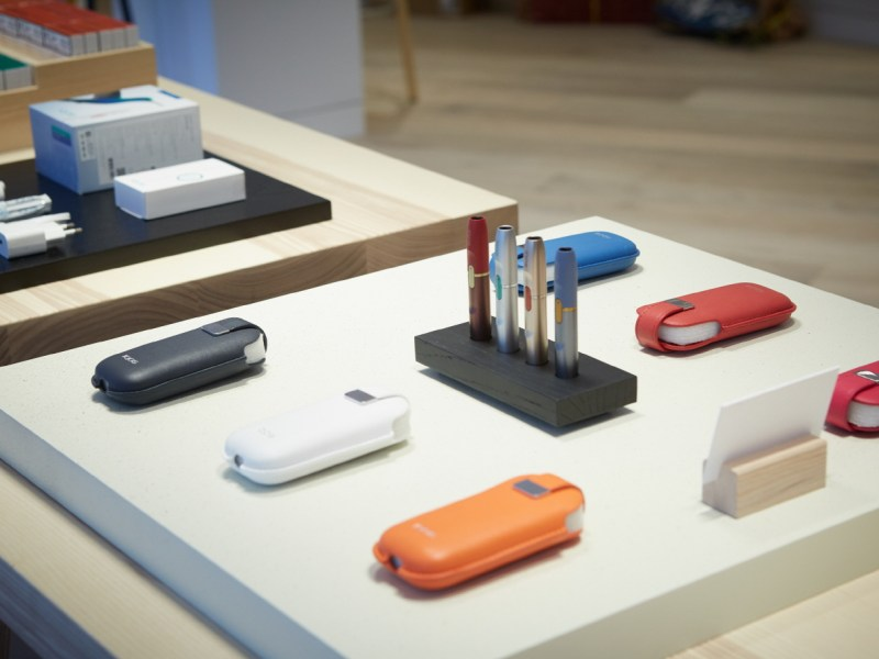 IQOS products on display in Gwanghwamun, Seoul.