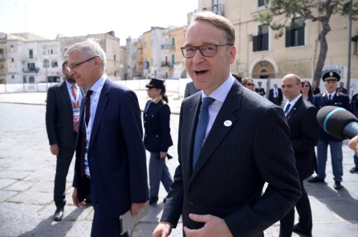 president of the German Central Bank (Bundesbank) Jens Weidmann arrives for a G7 summit of Finance Ministers in May. Photo: AFP/Filippo Monteforte