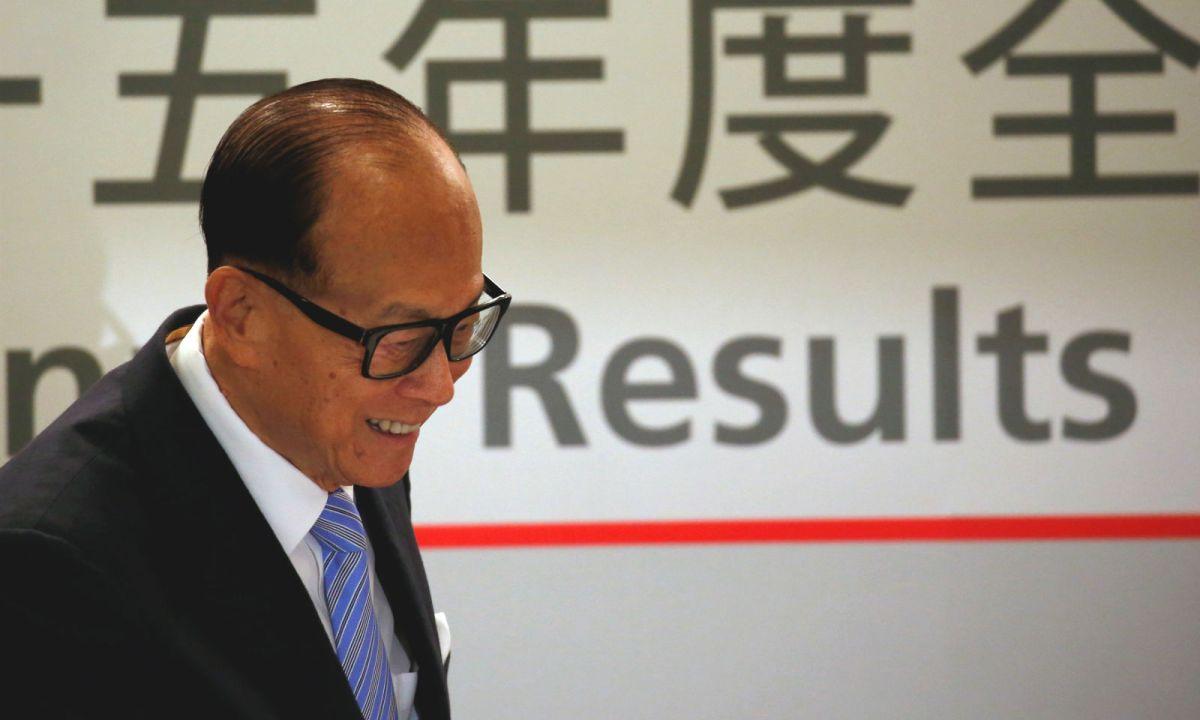 Billionaire Li Ka-shing.  Photo: Reuters/Bobby Yip