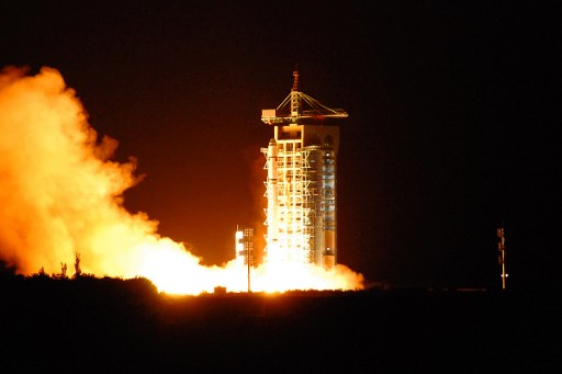 China's quantum satellite - nicknamed Micius after a 5th century BC Chinese scientist - blasts off in China's northwest Gansu province on August 16, 2016. Photo: AFP/China OUT