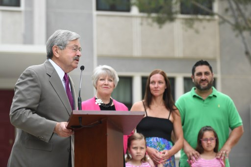 The new US ambassador to China Terry Branstad delivers a speech during a press conference in Beijing. Photo: AFP