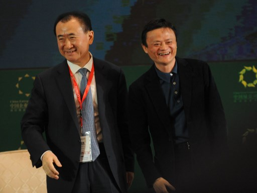 Wang Jianlin's (L) Wanda has been forced to pull back from overseas investment by Beijing, while Jack Ma's Alibaba is drawing scrutiny form the other side in the US. Photo: AFP