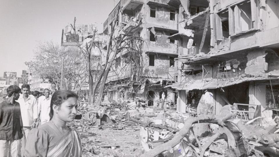 The scene of one of 12 blasts that rocked Mumbai on March 12, 1993. Photo: Hindustan Times