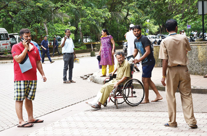 The scene of an attack on a tour group in Goa on Wednesday. Photo: India Times