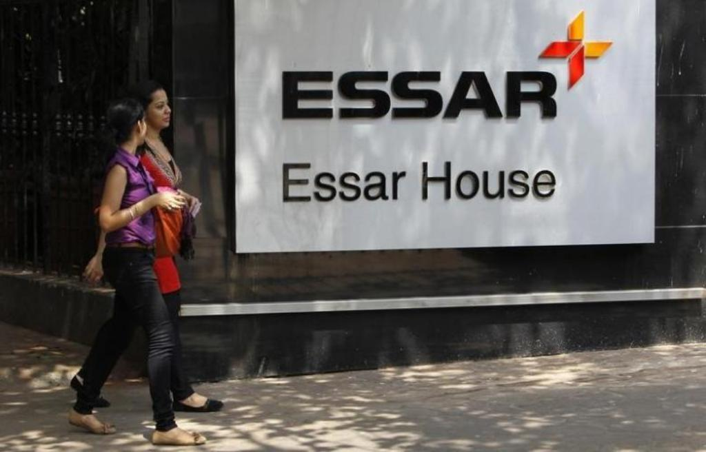 Essar Group logo outside their headquarters in Mumbai. The company's steel unit has been listed as one of the top defaulters by the Reserve Bank of India _ Reuters