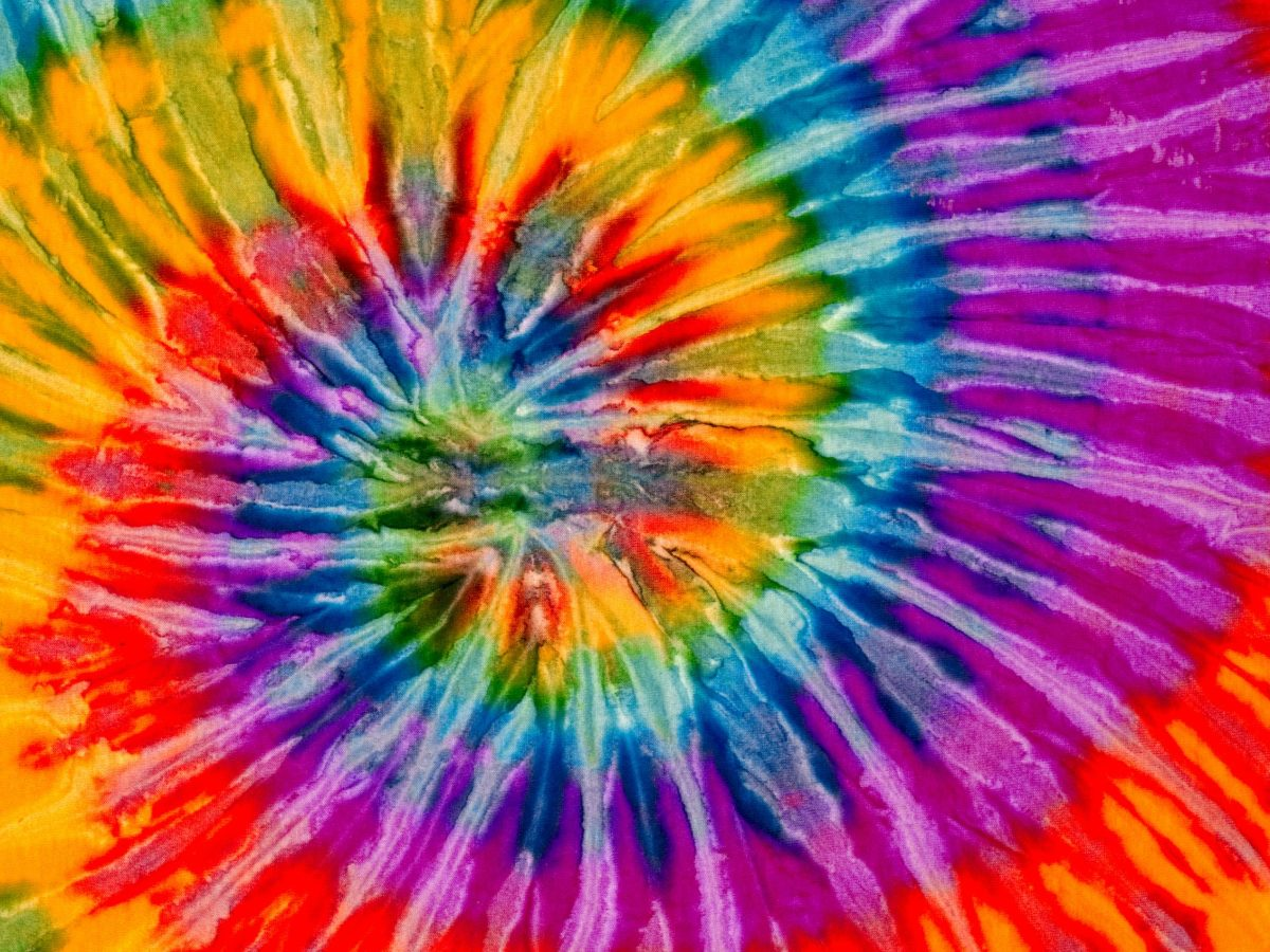 A background or texture made from a tie dyed fabric. Photo iStock